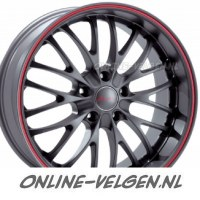Breyton Race CS Matt Gunmetal, Rode Rand velgen