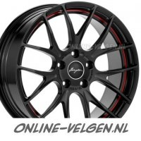 Breyton Race GTS-R Matt Black Red Undercut velgen