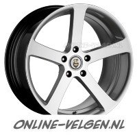 Cades Apollo High Gloss Zilver velgen