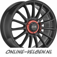 OZ Superturismo Evoluzione Gloss Black Red Letters velgen