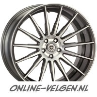 Art-Form AF-401 Gunmetal Polished velgen velgen