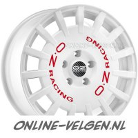 OZ Rally Racing Race White Red Lettering velgen | Online-Velgen.nl