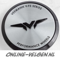 Veemann Centre Cap Machined Silver Black velgen