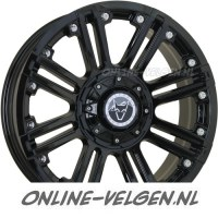 Wolfrace Amazon Gloss Black Chrome Rivets velgen | Online-Velgen.nl