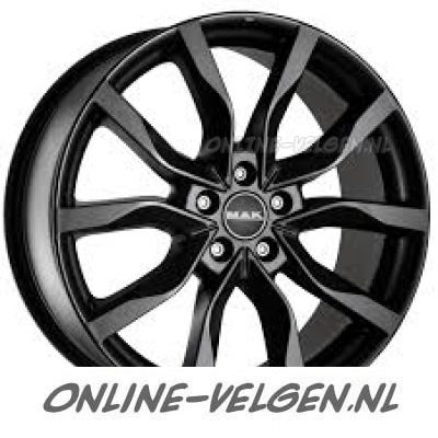 20 Inch Mak Highlands Mat Zwart Velg In 5x108 Et45 52129